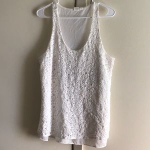 Gap white lace top